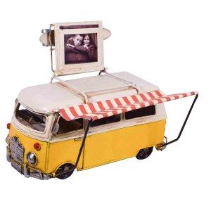 Διακοσμητικό κίτρινο βαν με θήκη για φωτογραφία 20x11x14 &ep