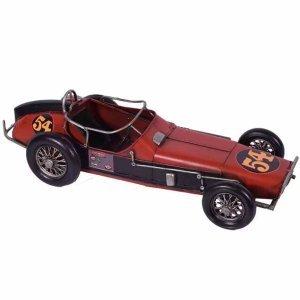 Μινιατούρα διακοσμητική vintage αγωνιστικού αυτοκινήτου σε κόκκινη απόχρωση 32x13x10 εκ