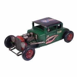 Vintage μινιατούρα αγωνιστικού αυτοκινήτου σε πράσινη απόχρωση 31x16x11 εκ