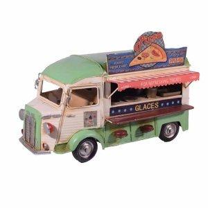 Vintage διακοσμητικό λεωφορείο καντίνα σε ανοιχτή πράσινη απόχρωση 28x15x20 εκ