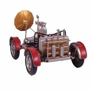Μεταλλικό διακοσμητικό vintage ερευνητικό όχημα σε κόκκινη απόχρωση 23x13x13 εκ