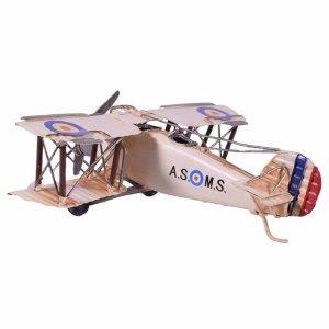 Vintage διακοσμητικό αεροπλάνο σε λευκή απόχρωση 21x21x7 εκ