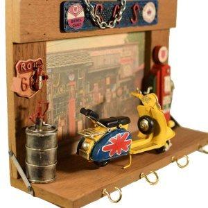 Μεταλλικό vintage διακοσμητικό γκαράζ κρεμάστρα και κ&lambd