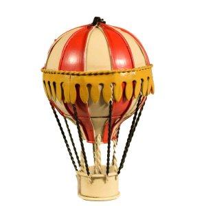 Αερόστατο κρεμαστό κόκκινο με εκρού 13 εκ