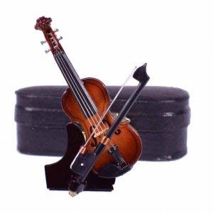 Διακοσμητικά κλασσικό βιολί με θήκη 3x1x7 εκ