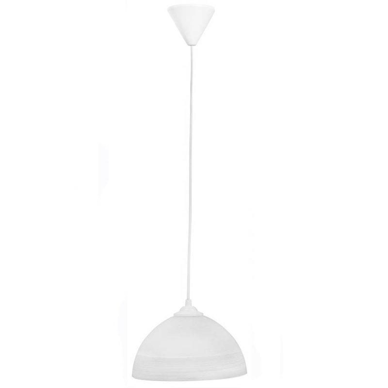 Λευκό γυάλινο φωτιστικό οροφής 85x22 εκ