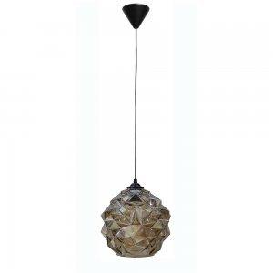 Μελί μονόφωτο φωτιστικό οροφής από γυαλί 25x105 εκ