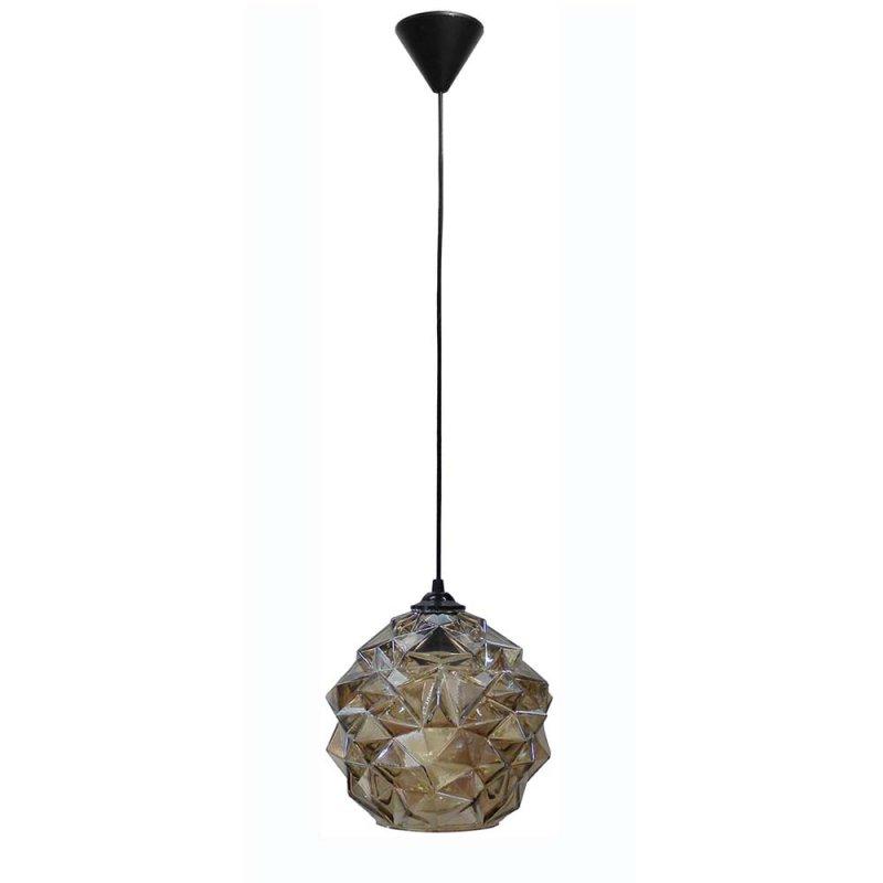 Μελί μονόφωτο φωτιστικό οροφής από γυαλί