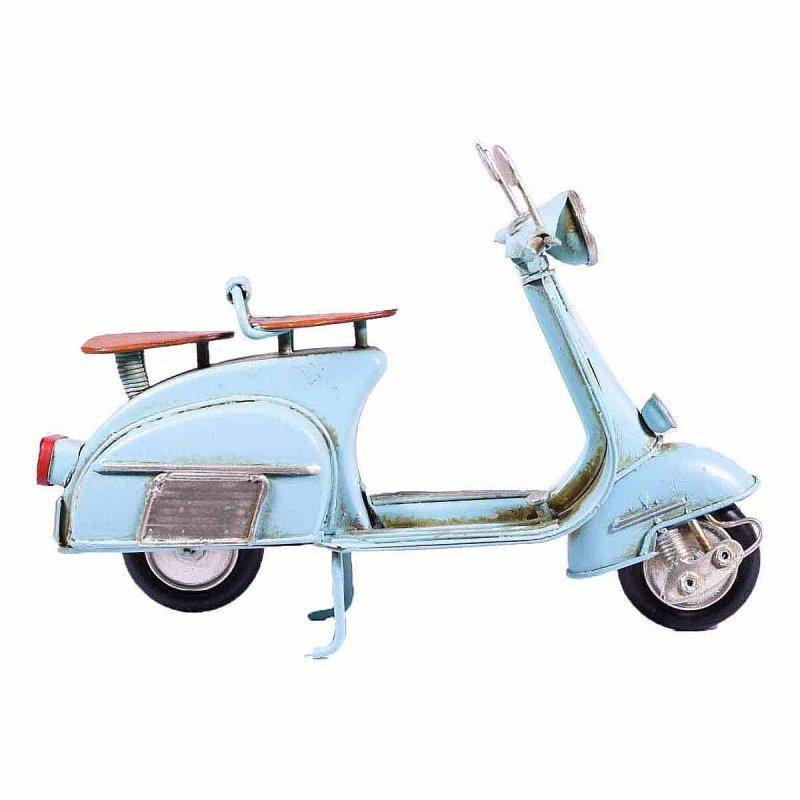 Μεταλλική μινιατούρα vintage γαλάζια βέσπα