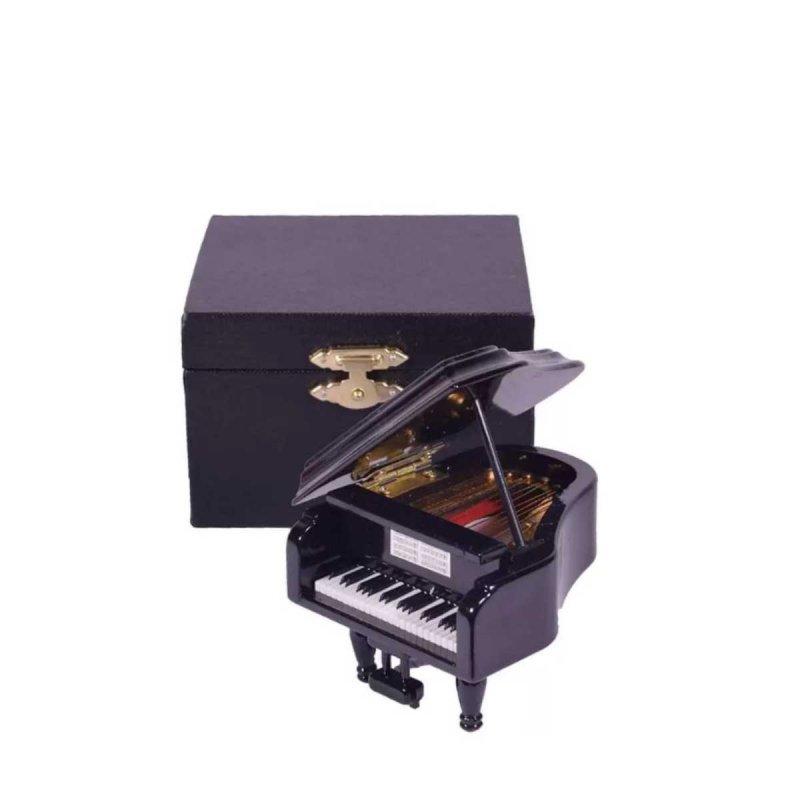 Μινιατούρα πιάνο μαύρο 8x7x9 εκ