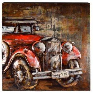 Vintage μεταλλικός διακοσμητικός πίνακας 3D αυτοκίνητο