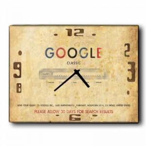 Ξύλινο Χειροποίητο Ρολόι Vintage Google 48x64