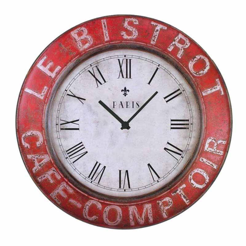 Vintage Ρολόι τοίχου Cafe Comptoir metal - 48cm F4826
