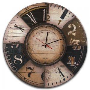 First Time Manufactory No42 - Vintage Ξύλινο Ρολόι Τοίχου Χειροποίητο