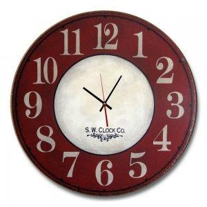 Vintage romantic - Ρολόι Τοίχου Ξύλινο xειροποίητο στρογγυλό
