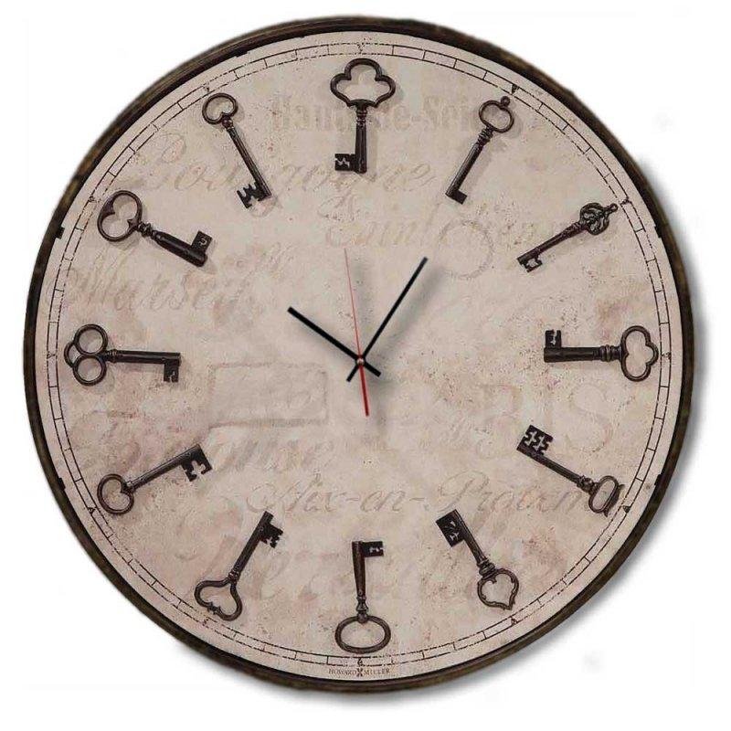 Clasic Στρογγυλό Ρολόι Χειροποίητο τοίχου - Vintage keys