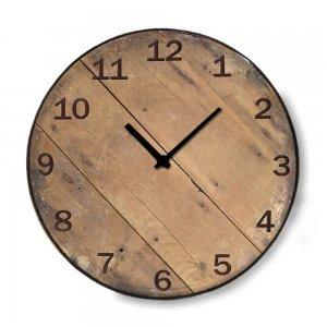 Industrial ξύλινο στρογγυλό ρολόι τοίχου Pallet 48cm-60cm