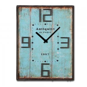 Vintage ξύλινο XL ρολόι τοίχου Antiquite Mare 32x48cm & 48x64cm