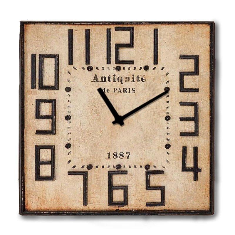 Vintage ξύλινο Ρολόι τοίχου Rusty Wood 48cm-60cm