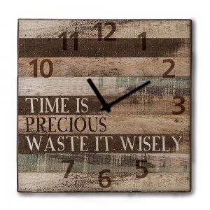 Industrial ξύλινο Ρολόι τοίχου Precious Time 48cm-60cm
