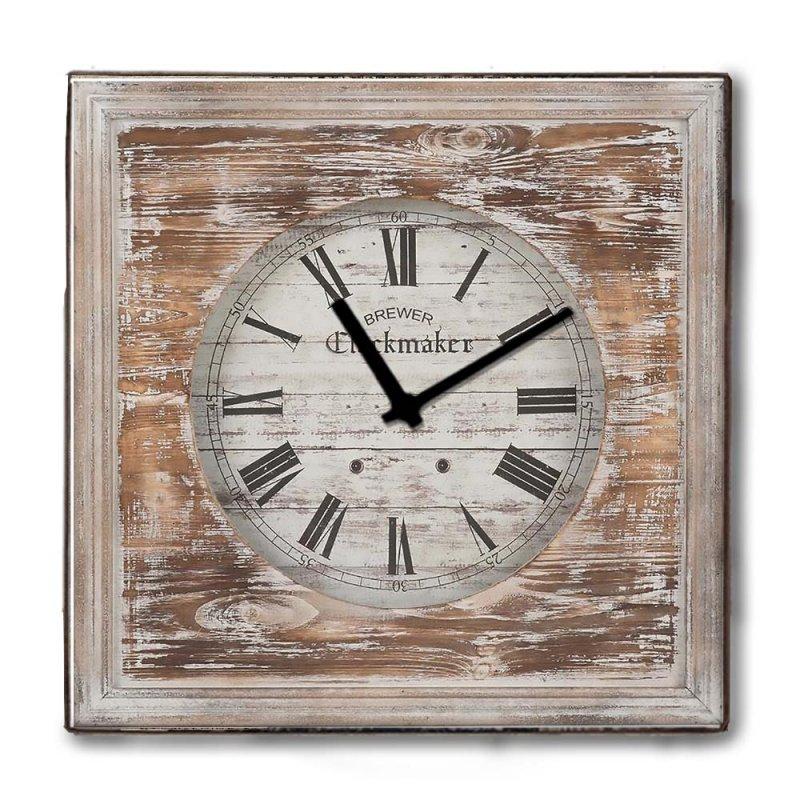 Rustic ξύλινο Ρολόι τοίχου The Clockmarket 48cm-60cm