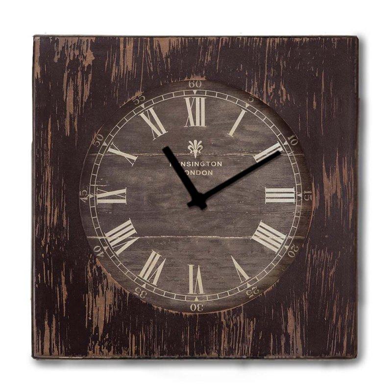 Rustic ξύλινο Ρολόι τοίχου Roman Numbers Καφέ σκούρο 48cm-60cm