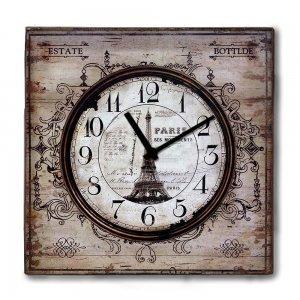Vintage ξύλινο Ρολόι τοίχου Retro Paris 48cm-60cm