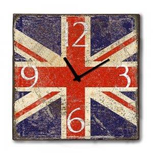 Industrial ξύλινο Ρολόι τοίχου Union Jack 48cm-60cm