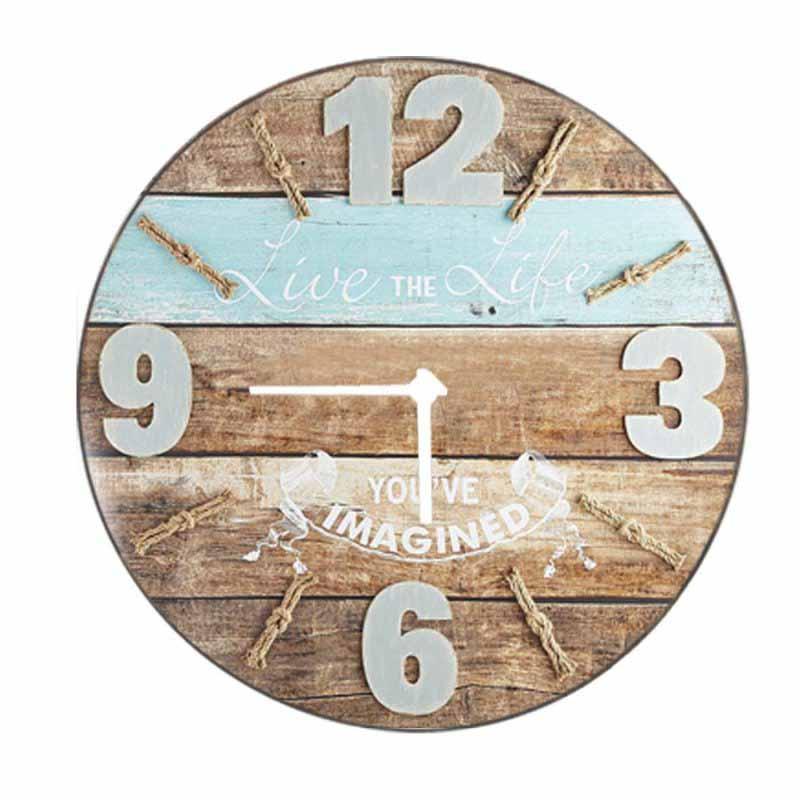 Vintage Ρολόι τοίχου Beach Life - 48cm F4825