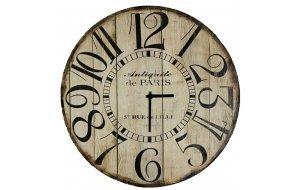 Antiquite Paris - Ρολόι τοίχου Ξύλινο Χειροποίητο Στρογγυλό