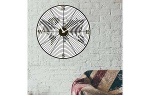 Ξύλινο ρολόι τοίχου χειροποίητο Πυξίδα 48 εκ