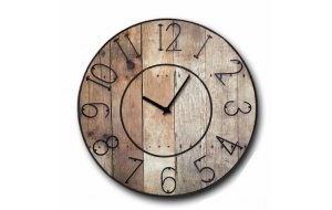 Gruntz - Ρολόι τοίχου Ξύλινο Χειροποίητο Στρογγυλό 48cm F4817