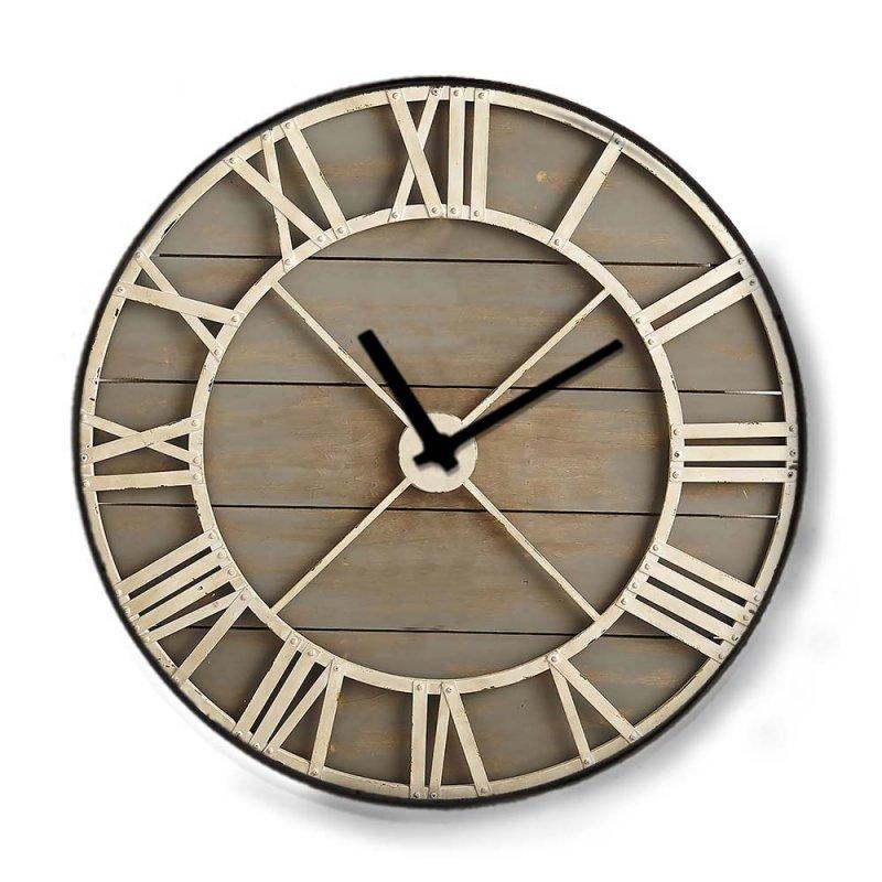 Industrial ξύλινο ρολόι τοίχου Deck 48cm-60cm