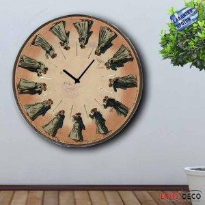 Ρολόι τοίχου Ξύλινο Χειροποίητο Στρογγυλό 32cm - Dancing F3205
