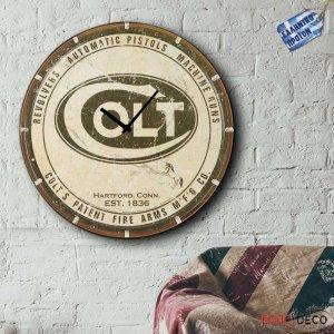 Colt - Ρολόι τοίχου Ξύλινο Χειροποίητο Στρογγυλό 48cm F4814