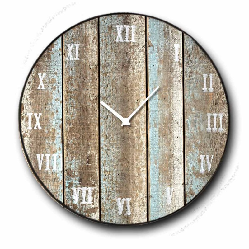 Deck - Ρολόι τοίχου Ξύλινο Χειροποίητο Στρογγυλό 48cm F4816