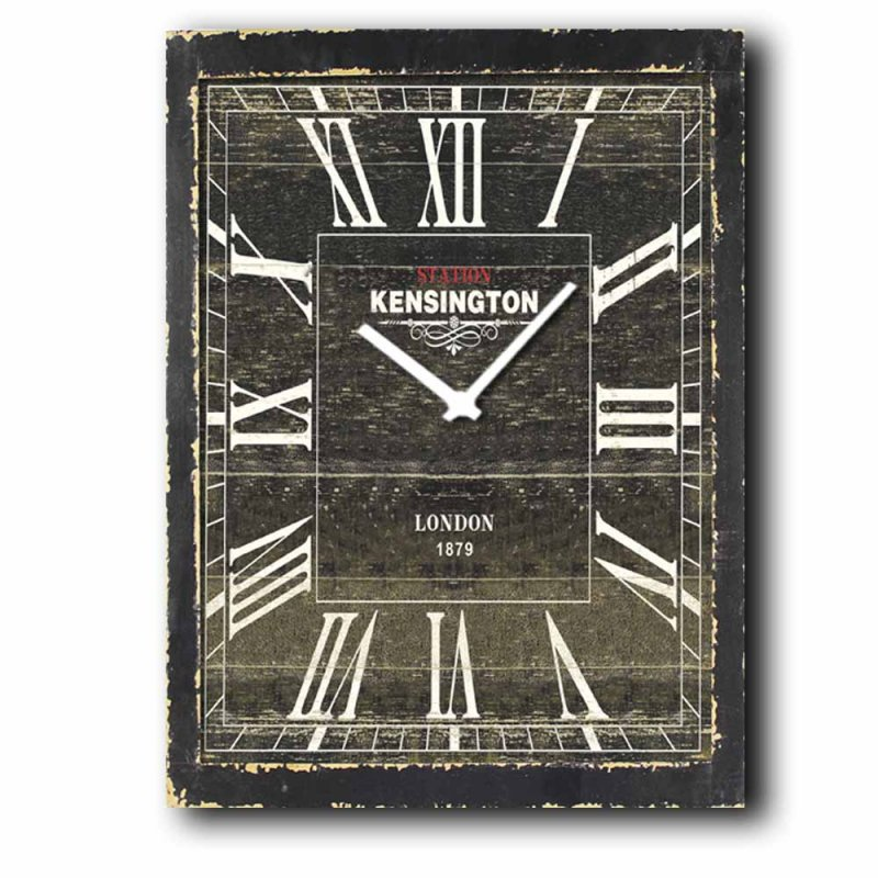 Kensington - Ρολόι τοίχου Ξύλινο Χειροποίητο 64Χ48cm P486408