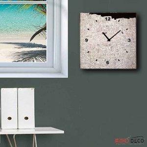 Notes - Ρολόι τοίχου Ξύλινο Χειροποίητο Τετράγωνο 32cm T3203