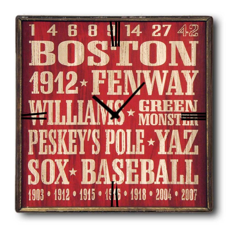 Boston - Ρολόι τοίχου Ξύλινο Χειροποίητο Τετράγωνο 48cm T4809