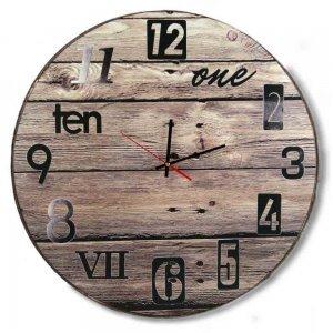 Μixed Νumbers - Ρολόι Τοίχου ξύλινο χειροποίητο