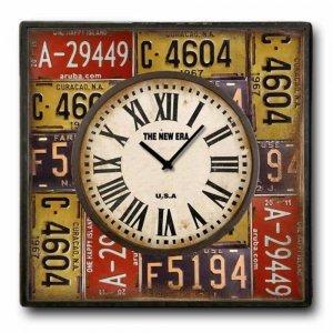 Πινακίδες - Ρολόι τοίχου Ξύλινο Χειροποίητο Τετρά&gam