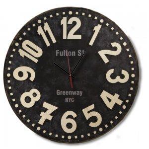 Post Modern Ξύλινο Ρολόι Τοίχου Χειροποίητο - Fulton St Greenway NYC