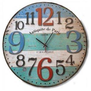 Retro - Ξύλινο ρολόι τοίχου χειροποίητο Antiquite de Paris 1870