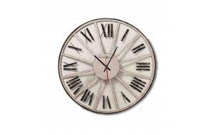 Retro Στρογγυλό Ρολόι τοίχου ξύλινο Χειροποίητο - Classic Howard Mil