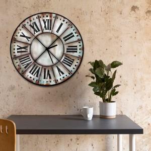 Ξύλινο Χειροποίητο Ρολόι Χειροποίητο Roman Numbers 48cm