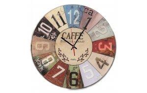 Romantic - Caffe Biscotti e Dolci  Χειροποίητο Στρογγυλό Ρολόι Τοίχου