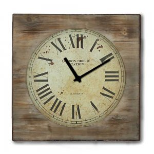 Rustic ξύλινο Ρολόι τοίχου Roman Numbers 48cm-60cm