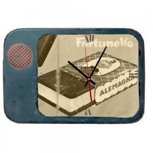 Vintage rusty Tv - Ξύλινο Χειροποίητοι ρολόι Τοίχου 32x48 εκ