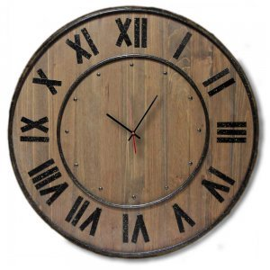 Vintage - Στρογγυλό Ρολόι Τοίχου Χειροποίητο - Wood and metal