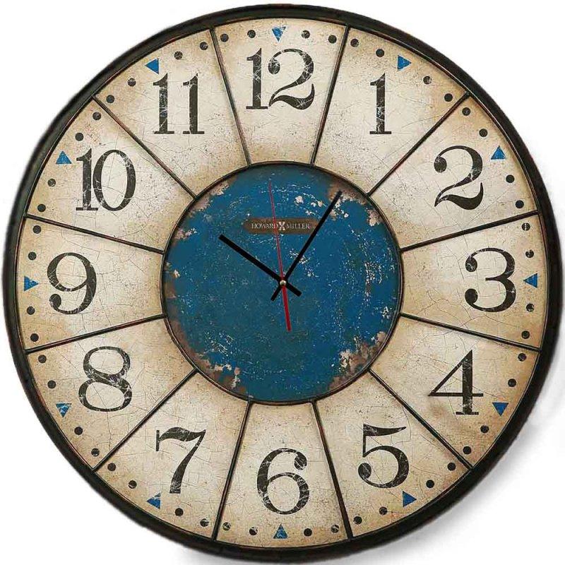 Vintage Στρογγυλό Ρολόι Χειροποίητο τοίχου - Howard Miller Rusty